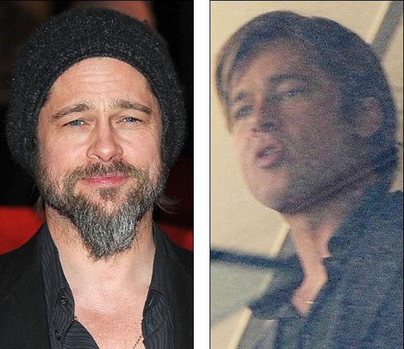 Без седоватой растительности на лице актер выглядит заметно моложе.  Фото: Daily Mail