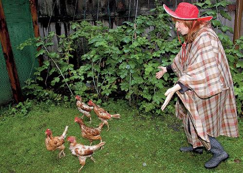 Курятник ПРОШУТИНСКОЙ снабжает свежими яйцами не только её семью, но и звёздных соседей