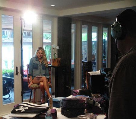 Анна Курникова на съемках для Maxim. Фото с официального сайта теннисистки