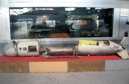 Американская ракета «Томагавк», сбитая Югославией в 1999 году. Фото: Википедия