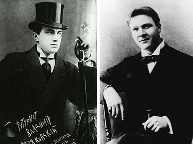 Владимир Маяковский и Федор Шаляпин. Фото: www.ru.wikipedia.org