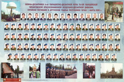 Десантники 104-го парашютно-десантного полка, погибшие на высоте 776. Источник: sdrvdv.ru