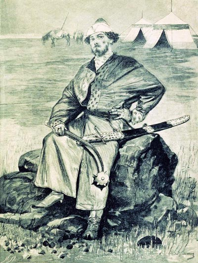 Алеша Попович. 1895. Иллюстрация к книге «Русские былинные богатыри»