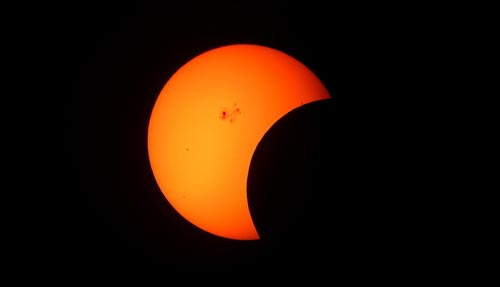 Частичное солнечное затмение. pixabay.com