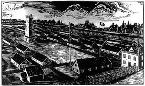 Рисунок узника лагеря. ru.wikipedia.org