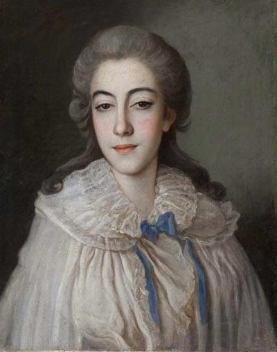 Свадебный портрет Е.И Голенищевой-Кутузовой. Автор неизвестен. wikimedia