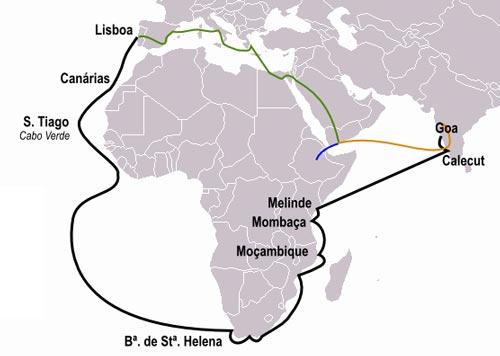 Морской маршрут в Индию из Лиссабона