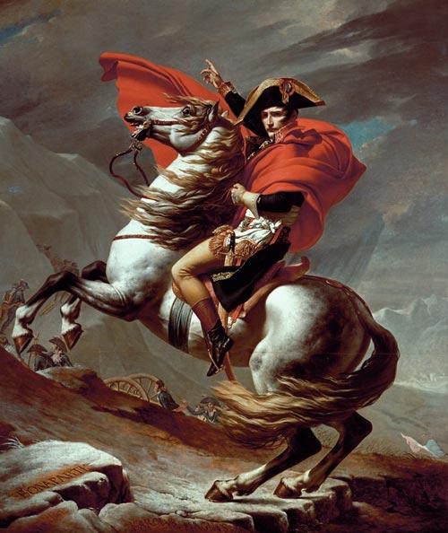 Наполеон на перевале Сен-Бернар». Худ. – Ж.-Л. Давид