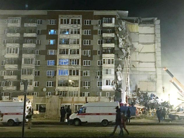 Взрыв бытового газа мог стать предпосылкой обрушения части жилого дома вИжевске