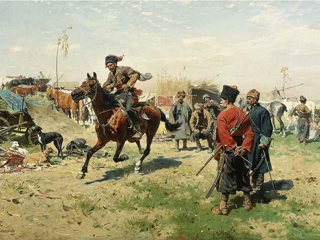 Юзеф Брандт. «Запорожцы». Источник: wikipedia.org