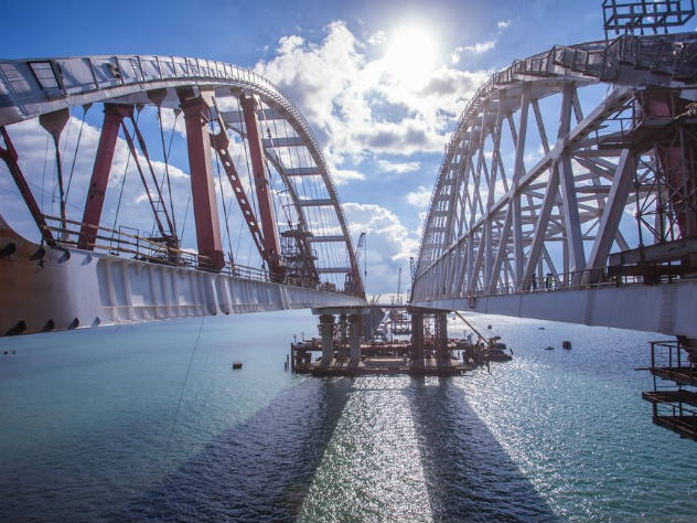 Жители России заканчивают выбирать название для моста вКрыму