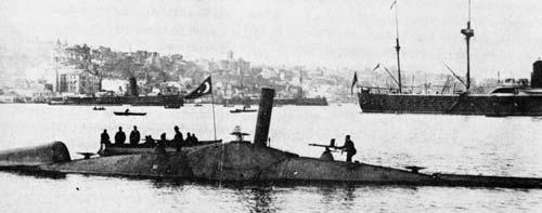 Злополучная субмарина Норденфельдта, проданная туркам. 1886 год. Фото: wikimedia.org