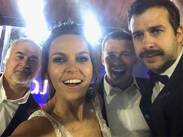 Ургант и Меладзе на свадьбе Максима Канунникова