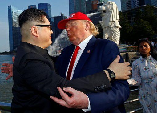 Встреча двойников американского и северокорейского лидеров была очень теплой