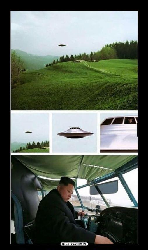Ким ЧЕн Ын в летающей тарелке