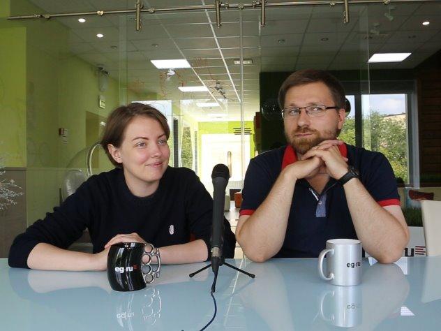 Авторы проекта «Жить вместе» Андрей Васенёв и Татьяна Скрабанская в редакции EG.RU