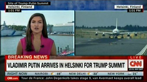 «Опоздание» самолета Путина вызвало истерику в CNN