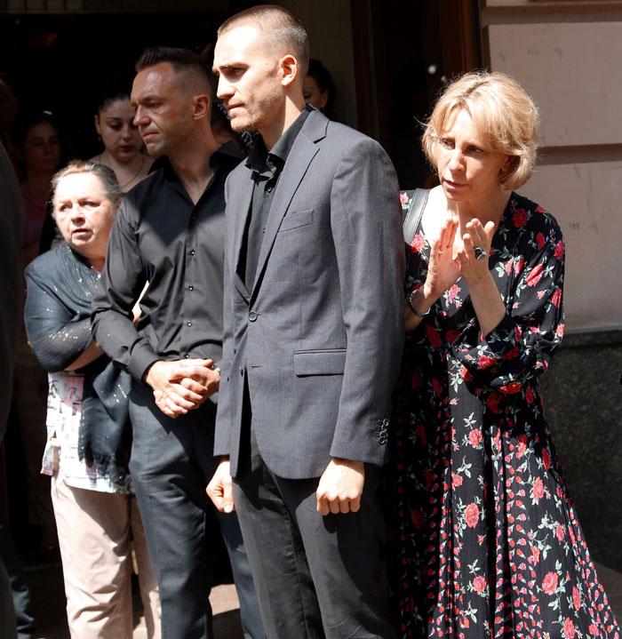 Старшие сыновья Кузнецова Даниил и Григорий и мама последнего Юлия Рутберг