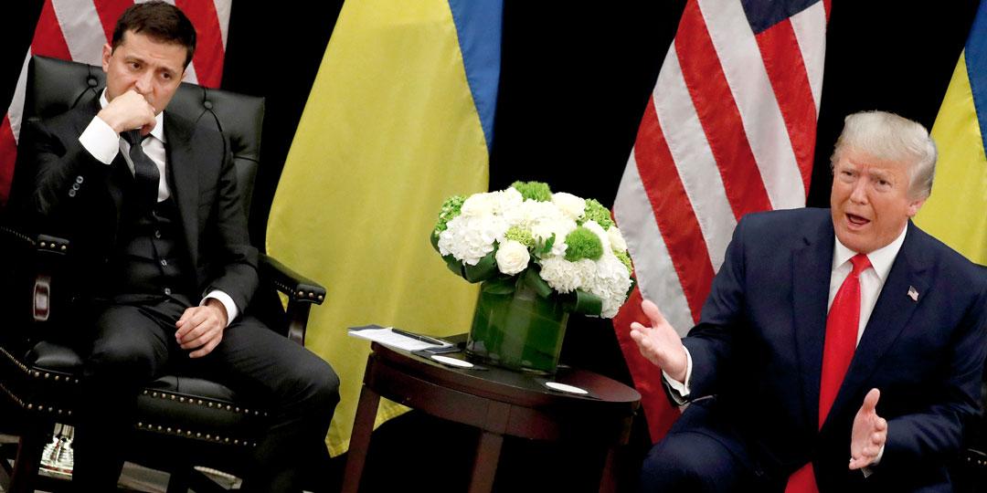 Все мировые СМИ отметили кислую физиономию Владимира Зеленского, когда Дональд Трамп предложил ему полюбовно решить все вопросы с Владимиром Путиным. Фото: © Reuters
