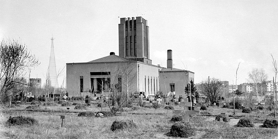 До 1947 года это был единственный массовый крематорий, действовавший в СССР. Foto William Osgood Field